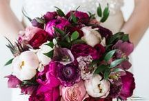 Pink - purple - marsala - powder wedding