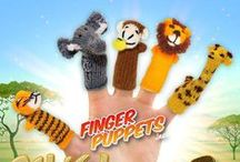 Wild Animals Finger Puppets / Our adorable collection of zoo animals! http://finger-puppets-inc.myshopify.com/collections/wild-animals Handmade with love from the artisans of Peru!