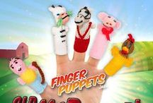 Old McDonald's Farm Finger Puppets / From the farm to your fingers, comes our collection of farm animal finger puppets!  http://finger-puppets-inc.myshopify.com/collections/old-mcdonald-s-farm