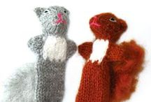 Forest Animal Finger Puppets / From the forest to your fingers comes our adorable collection of forest animal finger puppets.