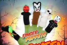 Halloween Finger Puppets / Halloween on your hands! Handmade Finger Puppets! http://finger-puppets-inc.myshopify.com/collections/halloween