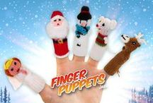 Christmas Finger Puppets / It's never too early to start getting excited for Christmas!