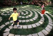 Play in the magic garden / Gardening for kids. Playscapes. Playgrounds. Fun in the yard. Play venue for kids.