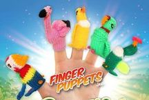 Beautiful Birds Finger Puppets / Beautiful Bird Finger Puppets  Each is handmade and each is unique! http://finger-puppets-inc.myshopify.com/collections/beautiful-birds