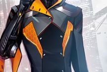 Suits / Bodysuits and plugsuits with little to no armour plating or mechanical enhancements. / by Aaron KTJ