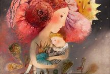 Illustraciones / Mujer y crianza.