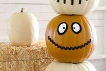 Halloween Decorations / Schönes und schauriges rund um Halloween ... Kürbisse, Fledermäuse, Gespenster
