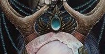Mujer Salvaje / Arte, ilustración, lechuza, loba.