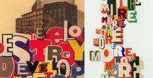 Collage, Buchstaben und Zahlen