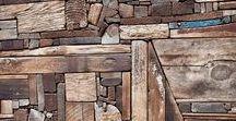 Holz: Relief und Assemblage