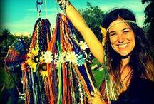 hippie gypsy halos / Hippie Headbands made by GypsyHalos, Yarn Braids, Hand Made, from Maui, Hawaii, Hippie Fashion, Hippie Couple Love, Flower Power, Peace and Love, www.gypsyhalos.com