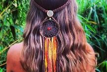 { dream streamers } / One of a kind dreamcatcher headbands with sparkle ribbons to flow down the back of your hair.