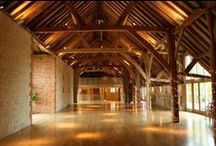 Inside the Barn at Bury Court / Barn interior and ideas for wedding set ups