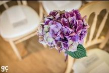 Wedding Flowers / Examples of floral arrangements and other decorative ideas in the barn.