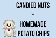 Candied Nuts & Homemade Potato Chips / From various types of candied nut snacks to homemade potato (and sweet potato) chips - these snacks are perfect for every day or for any party!