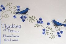Cards - sympathy, thinking of you, thank you