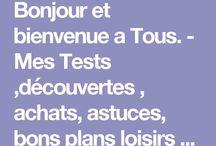 TESTS PRODUITS ,  #SITES TESTS   :   http://mestestsmaison.c.com/   CONCOURS -Bons plans, concours, astuces ect.. / TESTS Et bons plans sur MON BLOG :http://mestestsmaison.canalblog.com/