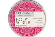 Attirance Body Scrubs / Key Ingredients for each body scrub
