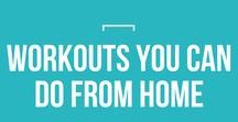 Workouts You Can Do From Home / Think you need to go to the gym and spend an hour everyday to get in shape? Not true! Try these at-home workouts you can do in your pj's!