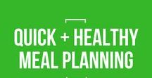 Quick + Healthy Meal Planning / Meal planning is one of the first systems a mom entrepreneur should have in place. Use these tips and resources to create your perfect meal planning system, so you never wonder about dinner again!