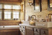 Bathroom / Ideas to use in my rustic home in making.