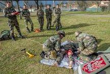Les unités médicales de l'armée de Terre recrutent / - combattants auxiliaire sanitaire