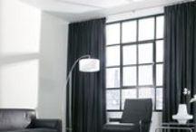 Curtains white - black