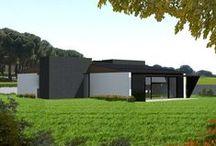CASAS / Viviendas Modulares industrializadas / Industrialized Modular Buildings  Renders de las viviendas AIRO.  AIRO homes' renders.