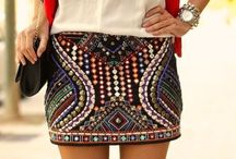 Sequin Mini Skirts / Sequin mini skirts are one of the trend pieces in 2014. You can combine them in many different ways. Hope my pins will help you ;) #Sequin mini skirts #Payetli mini etekler #Aztec #Tribal #A-line