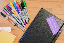 personlig org. / notater, egna behov av office-stuff, andra personliga speciella ideer