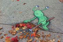 Street Art / bijzondere tekeningen op muren of straten