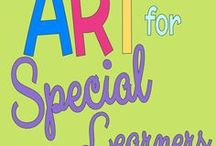 Art for Special Learners / Teaching Art to students with sorbitan needs or Autism? This board is full of easy to implement ideas you can try today!