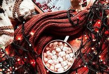 c h r i s t m a s / holiday Christmas it's the most wonderful time of the year fairy lights candles gingerbread fluffy socks sweets and candy winter snow christmas tree