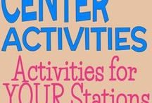 Center Activities / Collection of activities that work great in a center based classroom or when using station rotations.