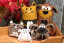 SewSewSew-Animals / Animal ideas for sewing crafts / by Dee Benden