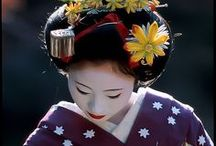 Maiko kanzashi / Kanzashi are hair ornaments used in traditional Japanese hairstyles. Tsumami kanzashi is the technique to make flowers from fabric, usually from silk. The seasons dictate which kind of hair ornament is worn in Japan. Usually this applies above all to the geisha and maiko, who tend to be the only Japanese women to wear kanzashi often enough for seasonal changes to be noticeable. Since maiko wear more elaborate kanzashi than their senior geisha, seasonal changes are even more important for them.