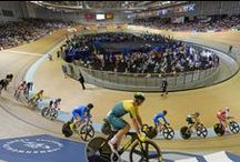 Track Cyclists / Track Cyclists in Action