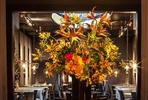 Anthony Brownie: Dinner Party / Floral arrangements for restaurants and private dinner parties, designed by Anthony Brownie flowers + events