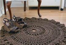 deco maison tricot / la déco que l'on peut faire au tricot : tapis, coussins, objets...