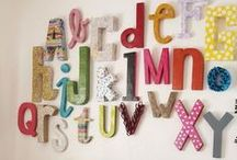 Decorate With Letters / Wooden or papier mache letters