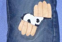 Stopfen, flicken, ausbessern - statt wegwerfen ! / Mending, sewing, darning, rather than throw away !