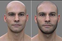 Male head, face