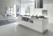 { kitchen ideas } /  white with pops of colour: pastel or neon