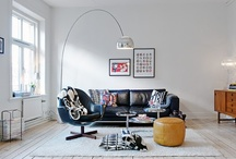 { living room ideas } /  white with pops of colour: pastel or neon
