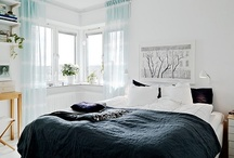{ bedroom ideas } / white with pops of colour, pastel or neon