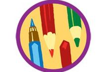 Drawing Badge -- Junior Girl Scout Badge Ideas / Requirements for Junior Badge Drawing 1. Experiment with different materials 2. Learn how to add shading 3. Get some perspective 4. Use your imagination like a graphic artist 5. Make your masterpiece -- and show it off! / by Junior Girl Scout Badges