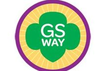 Junior Girl Scout Way -- Junior Girl Scout Badge Ideas / Requirements to earn the Girl Scout Way Junior Badge--  Step1: Match songs to an occasion.  Step 2: Celebrate the Girl Scout Birthday.  Step 3: Share sisterhood.  Step 4: Leave a place better than you found it.  Step 5: Enjoy Girl Scout traditions.  / by Junior Girl Scout Badges