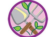 Gardener Badge -- Junior Girl Scout Badge Ideas / Requirements for Junior Badge Gardener  1. Visit a garden 2. Explore garden design 3. Learn how to choose garden plants 4. Experiment with seeds 5. Grow your own garden / by Junior Girl Scout Badges