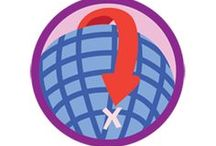 Geocacher Badge -- Junior Girl Scout Badge Ideas / Requirements for earning your Geocacher Junior Badge--  Step 1: Prepare for your adventure.  Step 2: Learn to use GPS receiver.  Step 3: Make a trade item.  Step 4: Go on a geocaching adventure.  Step 5: Take part in a bug's travels.  / by Junior Girl Scout Badges