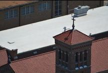 Church Clay Tile / A recent clay tile roof project in St. Louis.